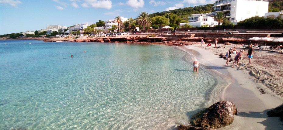 Spiaggia di Es Caló des Moro a Ibiza
