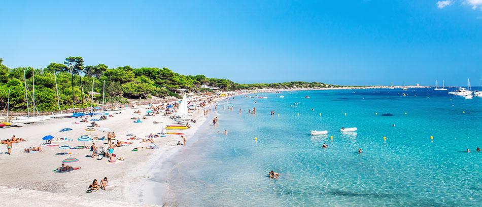 Spiaggia di Ses Salines - Las Salinas spiaggia. Ibiza
