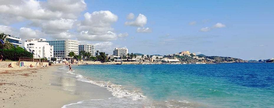 ibiza playa d'en bossa spiaggia