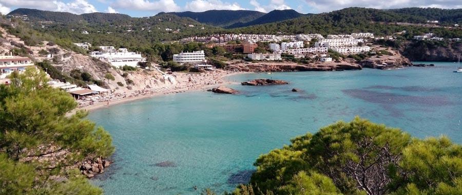 La spiaggia di Cala Tarida