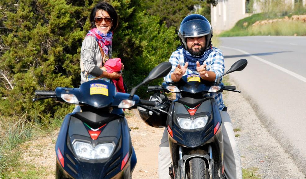 Noleggio scooter Ibiza