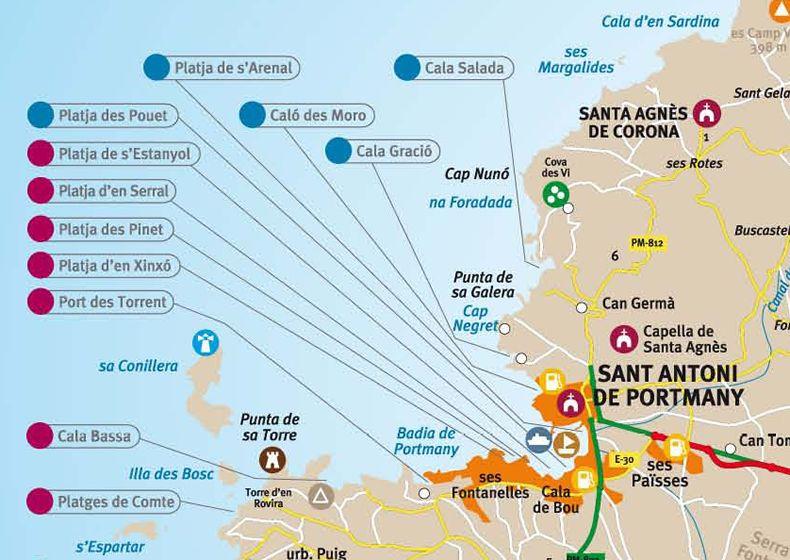 san antonio texas map with Spiagge San Antonio Ibiza on Spiagge San Antonio Ibiza together with 6997613509 in addition Sfft history further 19479116 likewise San antonio bay i.