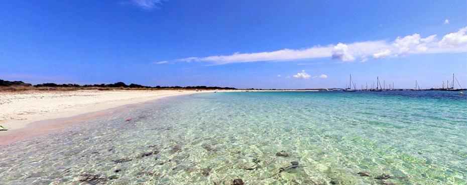 Playa de s'Alga, Espalmador - Formentera