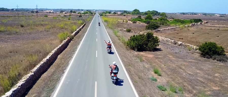 Noleggiare il motorino a Formentera