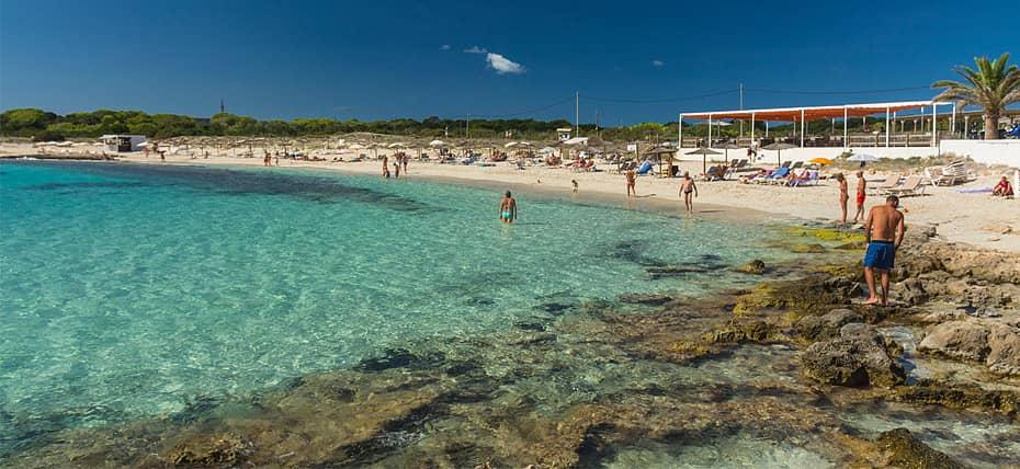 Spiaggia di Es Pujols, Formentera